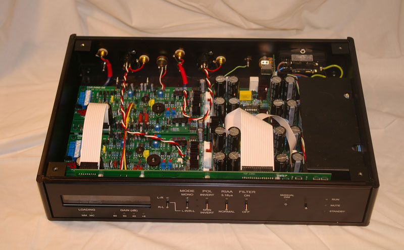 Phono I box open displaying internal circuitry image